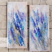 Картины и панно handmade. Livemaster - original item Paired paintings with lavender. Handmade.