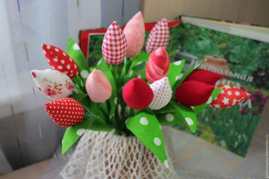 Букеты ручной работы. Ярмарка Мастеров - ручная работа. Купить Тюльпаны. Handmade. Тюльпаны тильда, купить подарок
