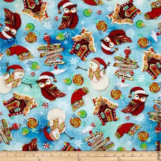 """Шитье ручной работы. Ярмарка Мастеров - ручная работа. Купить Новогодняя ткань """"Сладкий новый год"""" для тильды, пэчворка. Handmade."""