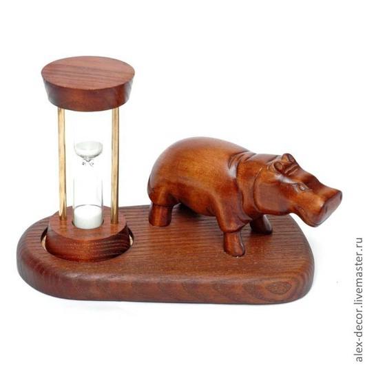Часы для дома ручной работы. Ярмарка Мастеров - ручная работа. Купить Песочные часы Hippopotamus. Handmade. Часы, песочные часы