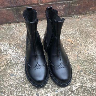 """Обувь ручной работы. Ярмарка Мастеров - ручная работа Челси """"black"""". Handmade."""