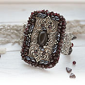 Украшения handmade. Livemaster - original item Bracelet with garnet beads.. Handmade.