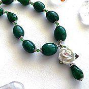 Украшения handmade. Livemaster - original item Emerald. Necklace