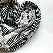 Снуды ручной работы. Ярмарка Мастеров - ручная работа Снуд женский шелковый в полоску и горох. Handmade.