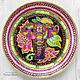 Декоративная посуда ручной работы. Ярмарка Мастеров - ручная работа. Купить Декоративная тарелка 'Индийский слон' ручная роспись. Handmade.