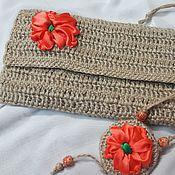 Сумки и аксессуары handmade. Livemaster - original item Klacht of jute, embroidered ribbons Mak. Handmade.