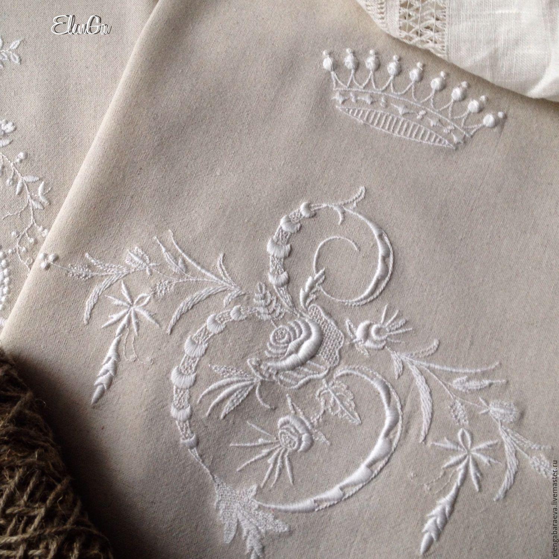 Вышивка для подушки корона