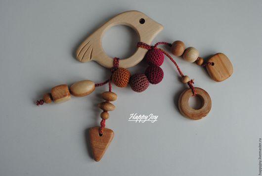 Развивающие игрушки ручной работы. Ярмарка Мастеров - ручная работа. Купить Грызунок-погремушка можжевеловый деревянный. Handmade. Комбинированный, прорезыватель