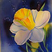 Картины и панно ручной работы. Ярмарка Мастеров - ручная работа панно Нарцисс. Handmade.