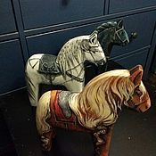 Декор ручной работы. Ярмарка Мастеров - ручная работа Роспись деревянных лошадок. Handmade.
