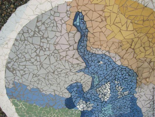"""Экстерьер и дача ручной работы. Ярмарка Мастеров - ручная работа. Купить мозаика """"слон"""". Handmade. Мозаика, ландшафтный дизайн"""