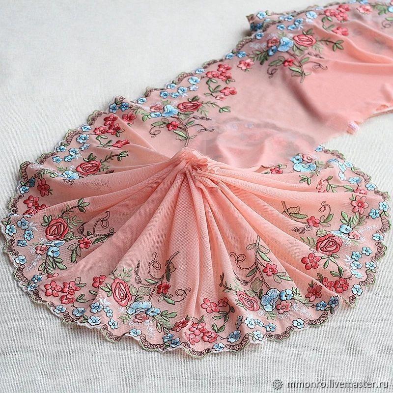 Embroidered braid, lace. Mirella, braid, Podolsk,  Фото №1