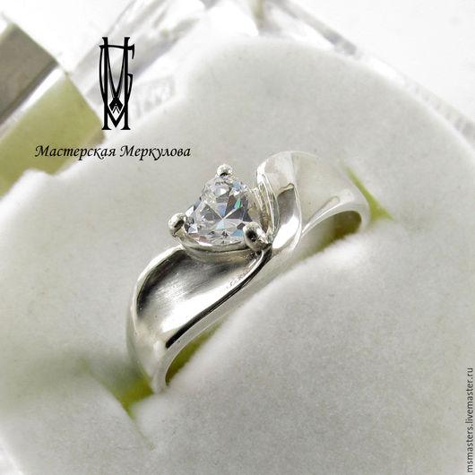 """Кольца ручной работы. Ярмарка Мастеров - ручная работа. Купить кольцо """"Сердце"""". Handmade. Серебряный, подарок"""