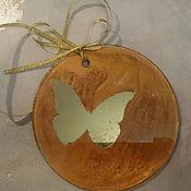 Подарки к праздникам handmade. Livemaster - original item Christmas decorations with butterfly mirror gift for the new year. Handmade.