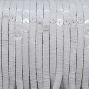 Материалы для творчества handmade. Livemaster - original item French sequins 4mm porcelain White Chalck. Handmade.