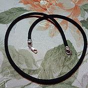 Украшения handmade. Livemaster - original item 4 mm silk cord with lock in 925 silver. Handmade.