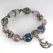 handmade. Livemaster - original item Bracelet with fluorite and suspension