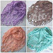 """Аксессуары handmade. Livemaster - original item Hooked small shawl """"cacao"""". Handmade."""