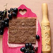 Для дома и интерьера ручной работы. Ярмарка Мастеров - ручная работа Игрушка деревянная скалка для печатного печенья и пряников. Handmade.