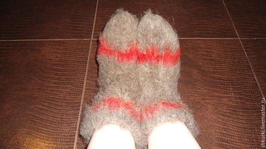 Носки, Чулки ручной работы. Ярмарка Мастеров - ручная работа. Купить Чуни из 100% овечьей шерсти. Handmade. Чуни