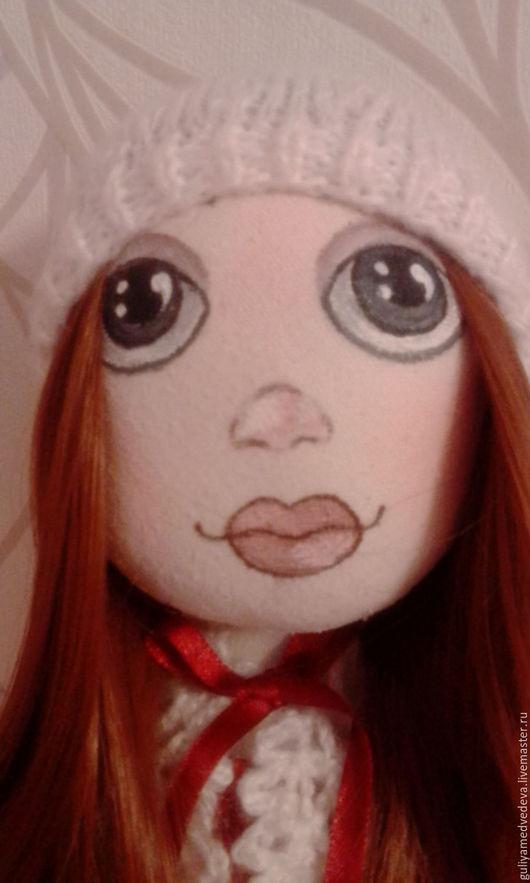 Портретные куклы ручной работы. Ярмарка Мастеров - ручная работа. Купить Текстильная кукла ручной работы. Handmade. Ярко-красный