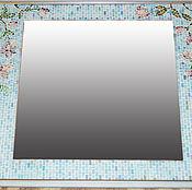 Для дома и интерьера ручной работы. Ярмарка Мастеров - ручная работа Зеркало в мозаичной раме Цветы.. Handmade.
