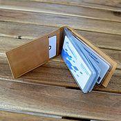 Сумки и аксессуары handmade. Livemaster - original item Desktop business card holder made of leather