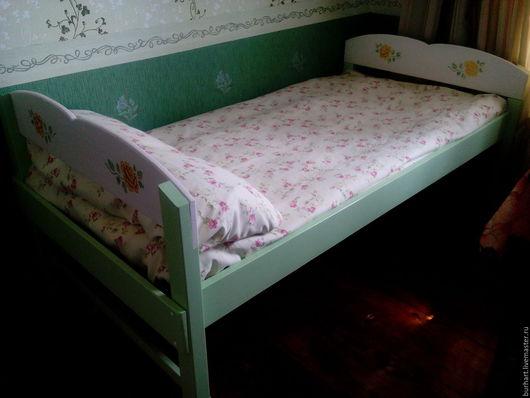 """Мебель ручной работы. Ярмарка Мастеров - ручная работа. Купить Кровать """"Розы"""". Handmade. Комбинированный, ручная работа, деревянный"""
