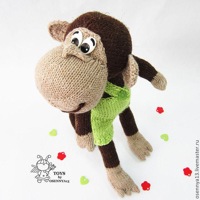 Как связать обезьянку спицами