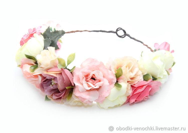 Ожерелье, венки из цветов на голову купить в москве