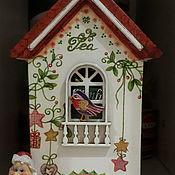 """Домики ручной работы. Ярмарка Мастеров - ручная работа Чайный домик под саше """" Новогодние сны"""". Handmade."""
