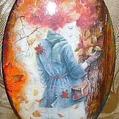 """Картины и панно ручной работы. Ярмарка Мастеров - ручная работа Панно """" Подружка - Осень рыжая"""". Handmade."""