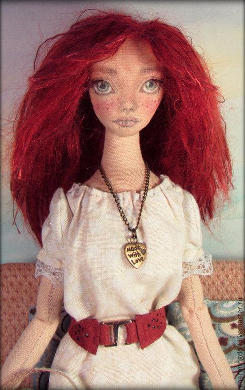 Коллекционные куклы ручной работы. Ярмарка Мастеров - ручная работа. Купить Интерьерная текстильная кукла. Handmade. Рыжий, авторская кукла