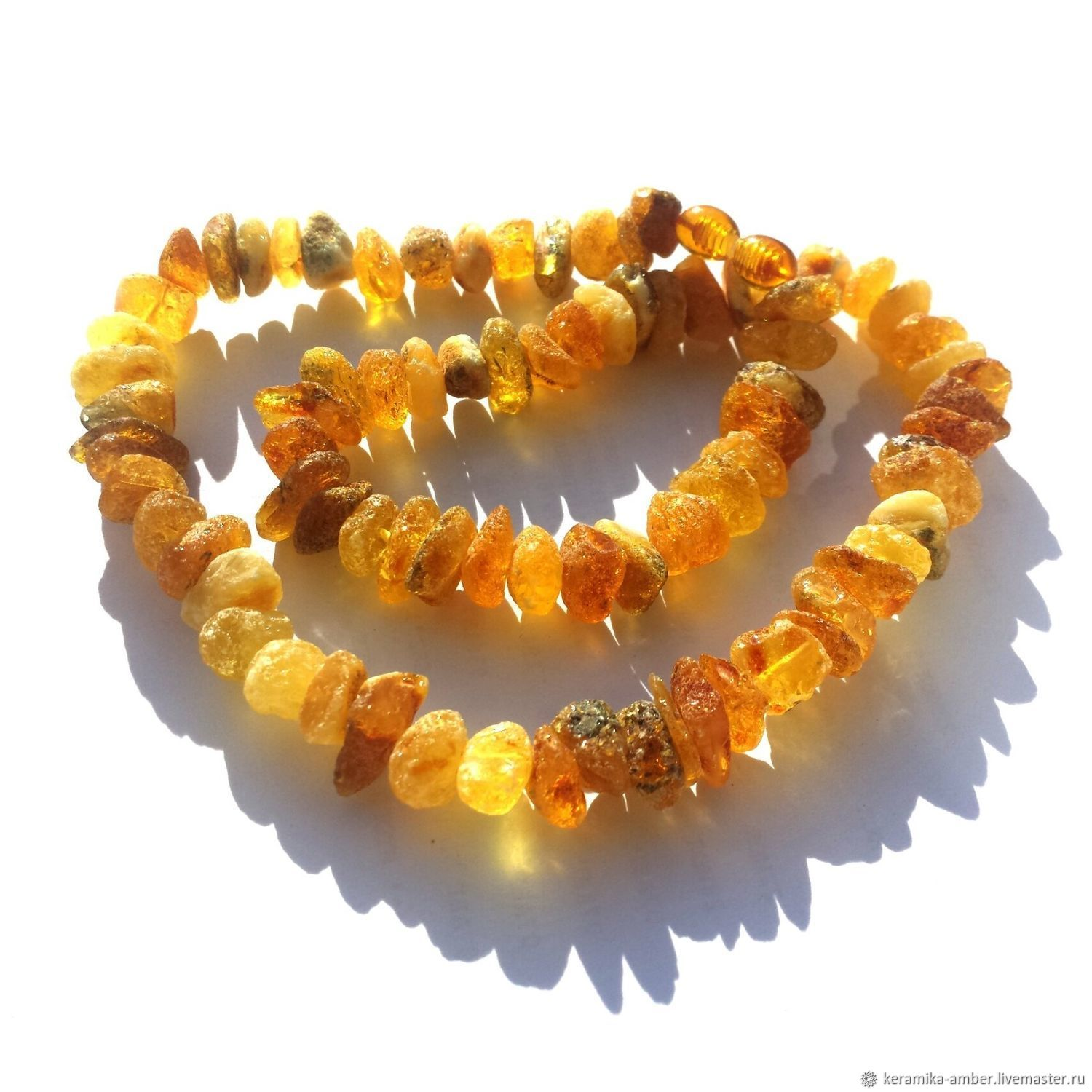 Amber beads Yellow useful for women 45 cm, Necklace, Kaliningrad,  Фото №1