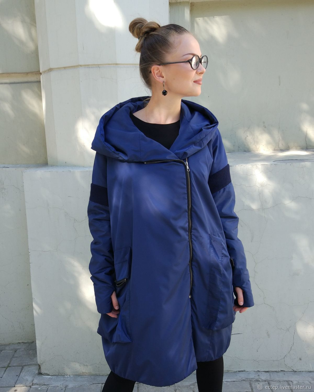 """Верхняя одежда ручной работы. Ярмарка Мастеров - ручная работа. Купить Пальто """"Сапфир"""". Handmade. Пальто, Осеннее пальто"""