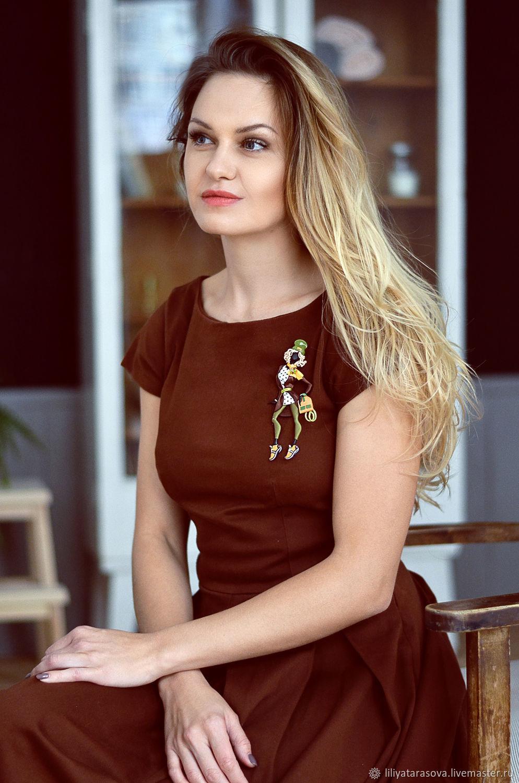 """Брошь """"Лола"""", Брошь-булавка, Ульяновск,  Фото №1"""