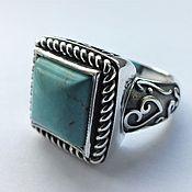 Украшения handmade. Livemaster - original item Tauret ring-turquoise, 925 silver. Handmade.
