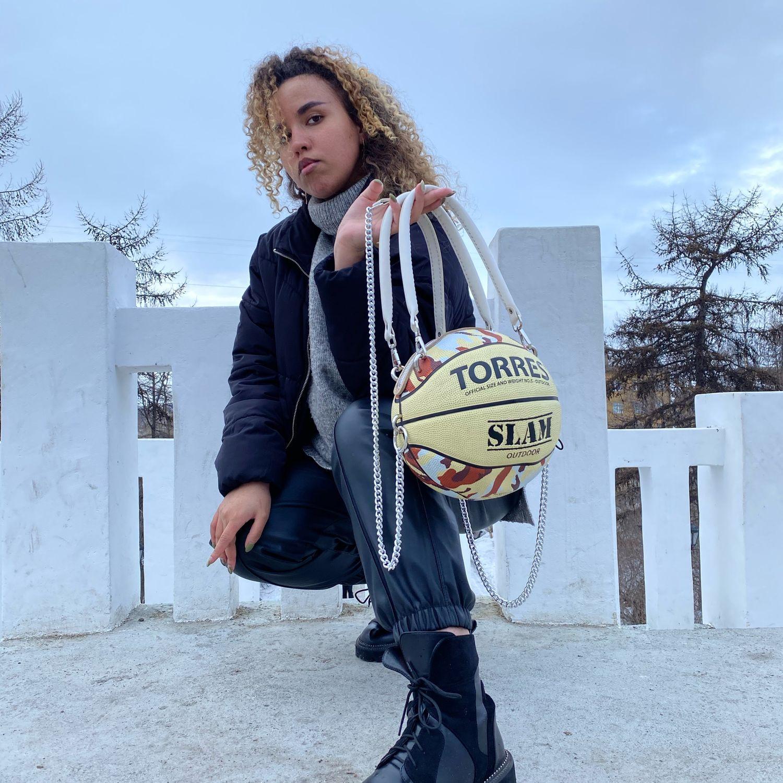 Сумка из баскетбольного мяча, Классическая сумка, Мурманск,  Фото №1
