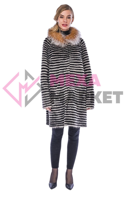 Fur mink coat ' ROMANA BEJ', Coats, Moscow,  Фото №1