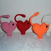 Куклы и игрушки handmade. Livemaster - original item Cat heart. Handmade.