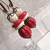 Украшения handmade. Livemaster - original item Earrings Red pumpkin)))))). Handmade.