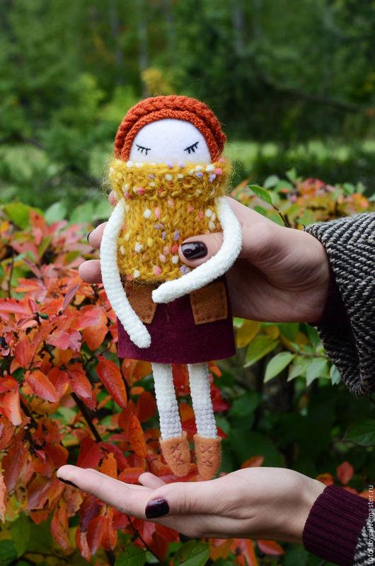Коллекционные куклы ручной работы. Ярмарка Мастеров - ручная работа. Купить Олив. Handmade. Комбинированный, вязаная куколка, осень, пряности
