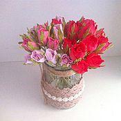 Цветы и флористика ручной работы. Ярмарка Мастеров - ручная работа Бутоны роз из фоамирана. Handmade.