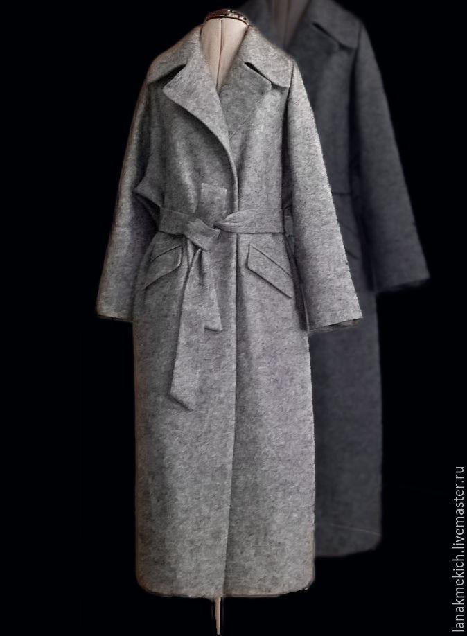 Coat jacket with belt grey 'Overcoat' look No. 2, Coats, Moscow,  Фото №1