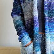 Одежда ручной работы. Ярмарка Мастеров - ручная работа Кардиган Синяя Палитра. Handmade.
