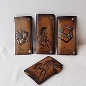 Сумки и аксессуары handmade. Livemaster - original item Wallets and covers leather with any engraving.. Handmade.