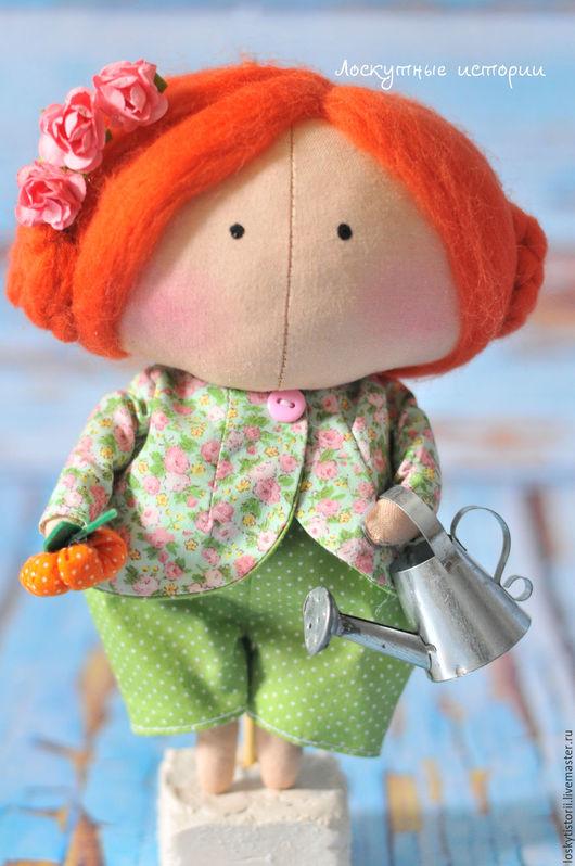 Куклы Тильды ручной работы. Ярмарка Мастеров - ручная работа. Купить Кукла Солнышко. Handmade. Зеленый, кукла в подарок
