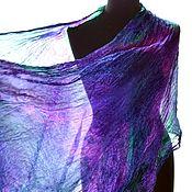 Аксессуары handmade. Livemaster - original item Scarf stole silk female long multi-colored. Handmade.