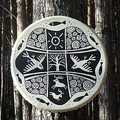 Музыкальные инструменты handmade. Livemaster - original item Sunny forest. Drum leather. 40 cm.. Handmade.