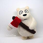 Куклы и игрушки ручной работы. Ярмарка Мастеров - ручная работа Белый медведь с топором.  Мы обычные медведи (We bare bears). Handmade.